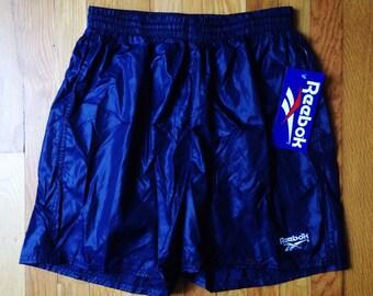 "vintage reebok swim trunks ""wet"" mens size large"