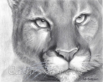 COUGAR SPIRIT by Carla Kurt Signed print
