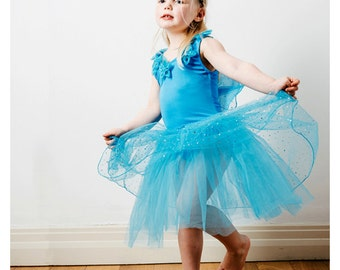 Fairy Dress | Fairy Costume | Princess Dress | Party Dress | Girls Dress - Fairy Dress with Wings / Blue
