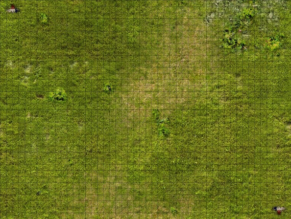 Grass Themed 1 Inch Grid Tabletop Rpg Mats Available In