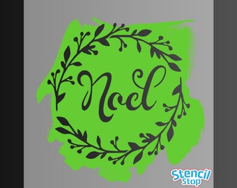 Noel Wreath Stencil