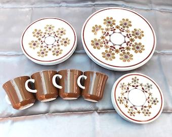Retro Mikasa Carnival dinnerware set