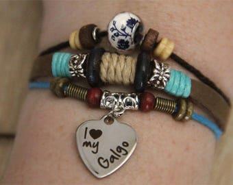 Galgo Bracelet - Spanish Greyhound Bracelet - Galgo Jewelry