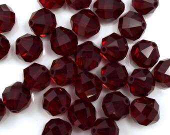 Swarovski 5025 8mm Siam Round Faceted Bead