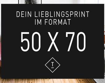 50 x 70 cm / Fine Art-Print, Wall-Art, Minimal Poster Art, Typography Art, Premium Poster, Kunstdruck Poster