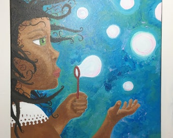 Painting: Bubble Beauty (girl)
