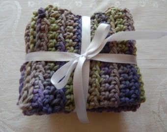 Hand-Crocheted Dish Cloths - 100% Cotton