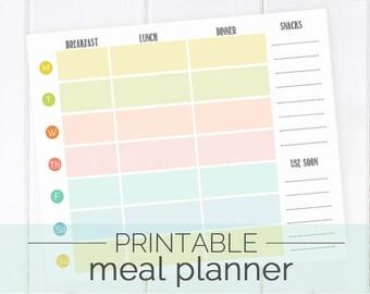 Printable Meal Planner & Grocery List