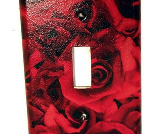 Light Switch Cover Wall Plates Switch Plate  Switchplate   in   Roses are Red (253S)