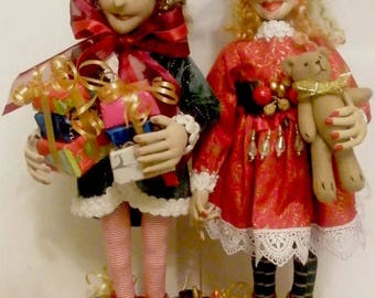 MM258E - PIPPA & OLIVER, Cloth Doll Making Pattern, PDF Download Sewing Pattern