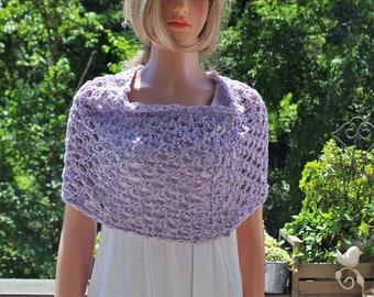 Cotton Summer bolero in lilac