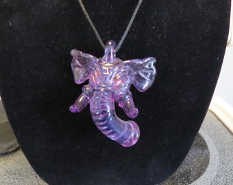 Domino Glass Elephant Pendant