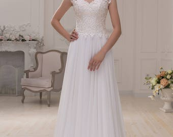 Wedding dress wedding dress bridal gown CAROLINE simply empire ivory lace