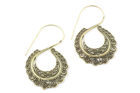 Golden Redemption Earrings, Brass Ethnic Earrings, Boho, Bohemian, Tribal, Festival Jewelry, Gypsy, Hippie, Contemporary, Statement Piece