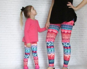 Mommy & Me - Mommy And Me Leggings - Mommy And Me Outfit - Matching Mommy Daughter - Leggings - Womens Leggings - Baby Girl Leggings