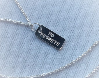 No Regrets Tag/Sterling Silver Necklace