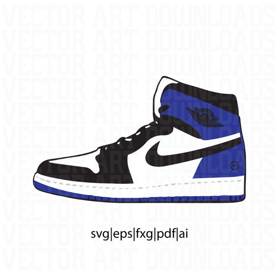 Air Jordan 1 Fragment Vector in SVG, DXF, PDF, Eps, ai format download from  VectorArtDownloads on Etsy Studio