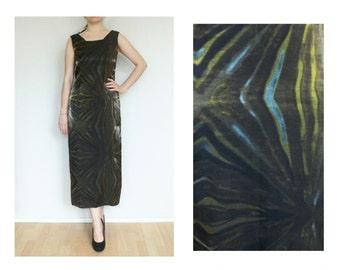 1970's vintage, psychedelic dress, Summer dress
