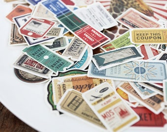 Journal Stickers~ Vintage tickets die cut ephemera, Planner, Junk Journal, bullet Journal, Snailmail,Mailar embelishments,Travelers notebook