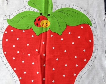 Strawberry - Sewing Fabric Panel