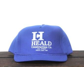 Vintage Heald Construction Elbow Lake Minnesota Trucker Hat Snapback Baseball Cap