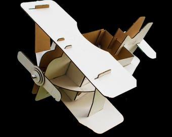 Bi Bi Plane- Designer Cardboard GIANT Air plane (Carry your plane around)