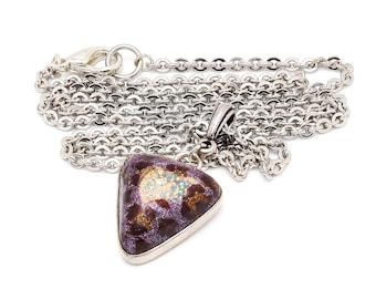 Leopard Print  Druzy Pendant Necklace
