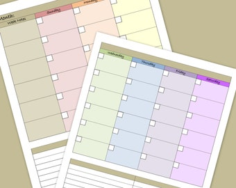 Monthly Calendar and To Do lists - PDF