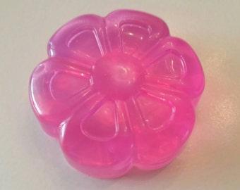 Pink Flower Soap, Handmade Glycerin Lavender soap, Spring Soap, Custom Colors, Soap Favor, Handmade Kids glycerin soap, Easter Gift