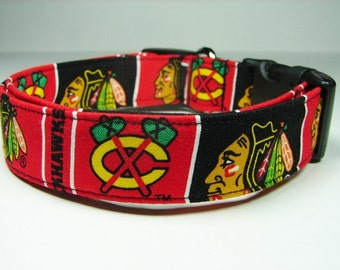 Chicago Blackhawks hockey Dog Collar