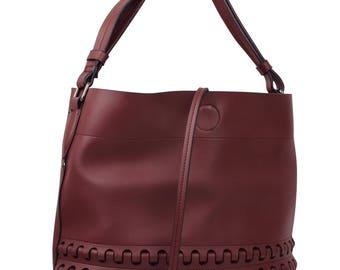 Burgundy Tote Bag, Boho Bag, Womens Tote Bag, Mother's Day Gift