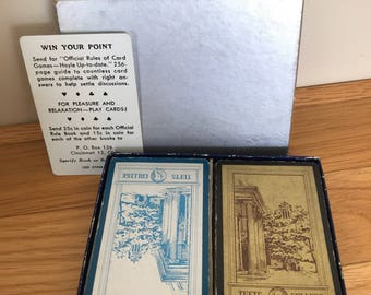 Vintage Double Deck Playing Cards fromTufts College
