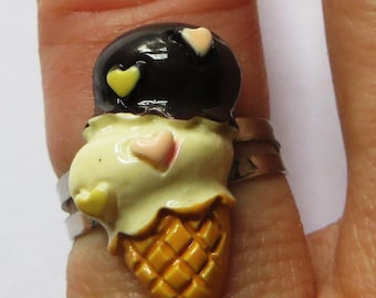 Double scoop Ice cream adjustable ring