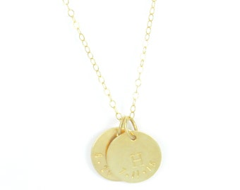 The Brooklyn. Initial and date necklace