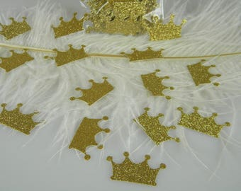 Gold Crown Confetti | Gold Party Decoration Gold Glitter | Gold Princess Prince Crowns | Table Scatter | Princess Party