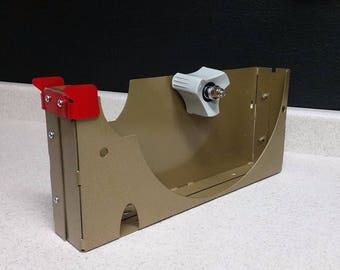 12 inch tape dispenser. 2 inches wide. 3 inch core