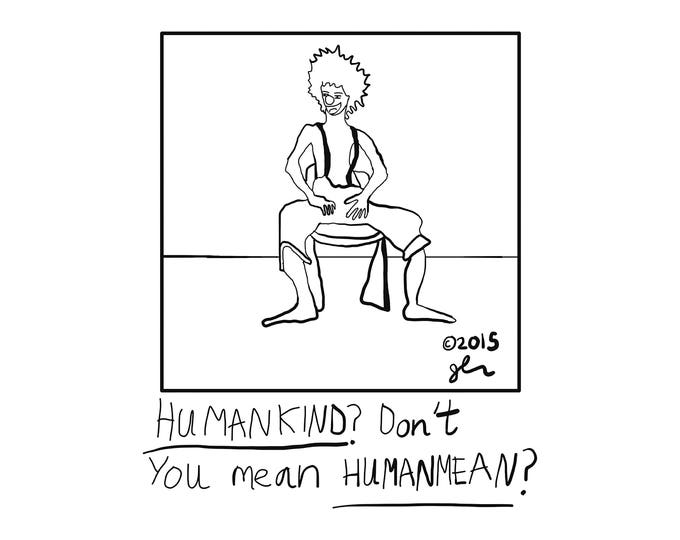 Art Print Punk Shirts Punk Shirt Sad Clown Truth Humanity Wordplay Clever Pun Humankind is Humanmean Community Volunteer Crust Punk Shirt