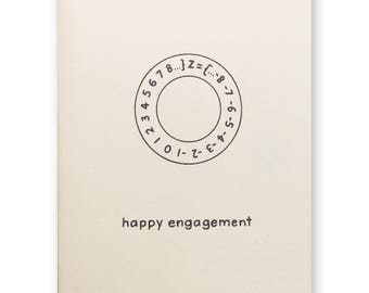 Math Engagement Ring Card - Mathematics Ring Theory Nerd Geek Wedding Shower Card - To be wed - to be married