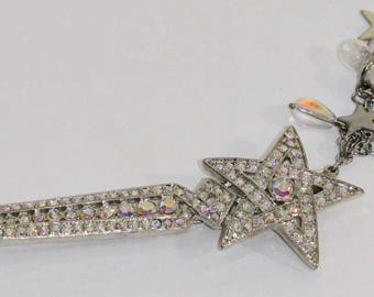Kirks Folly Silver Brooch Star with Charms