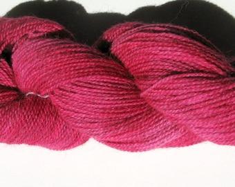 Wool / Alpaca Yarn, Hand Dyed, Red, Fingering Weight, 245 yards