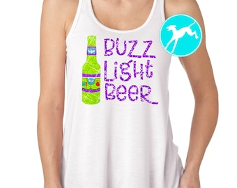 Disney wine Shirt beer buzz lightyear toy story glitter vacation shirt razorback Tank Top running Dri Fit wine dine marathon race drinking