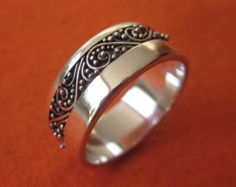 Balinese Sterling Silver granulation technique ring / silver 925 / Bali handmade jewelry / Size: 7 ready to ship