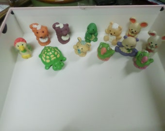 Pick A Pet- Strawberry Shortcake Vintage Kenner pets, Marza, Parfait, Tea time turtle,Jelly Bear