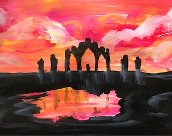 Fyrish Sunset Painting.
