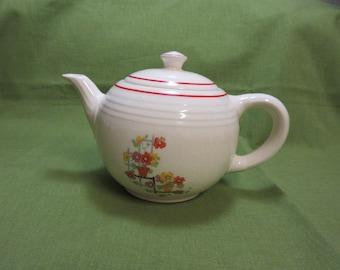 vintage Porcelain Clay Teapot 1940,s