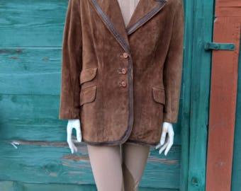 Vintage Albuquerque Suede Equestrian Jacket