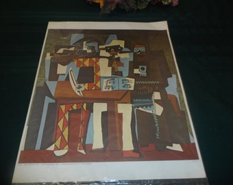 """Three Musicians, c.1921 Art Poster Print by Pablo Picasso 20""""x16"""""""