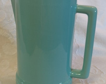 Blue green mid-century water pitcher