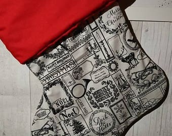 Beautiful Handmade Christmas stocking, fully lined and padded