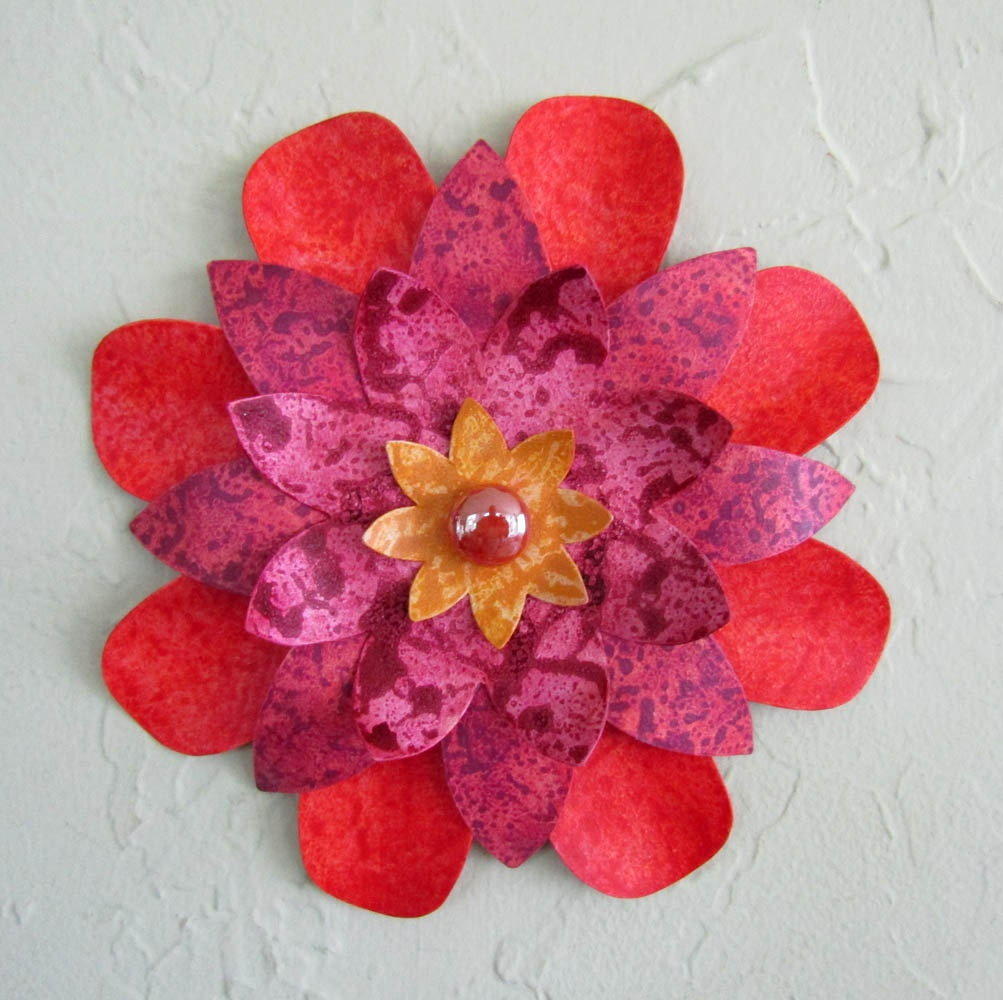 Red And Gold Metal Wall Art Metal Wall Art Flower Sculpture Kitchen Wall Decor Bathroom